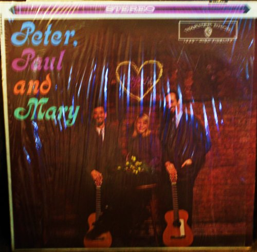 Peter Paul & Mary (Debut album) Original Recording Reissue Warner Brothers Stereo release WS 1449 1960's Folk Vinyl (1970)