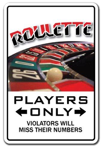 Roulette Player Aluminum Sign Parking Wheel Gambler Gamble las Vegas Casino | Indoor/Outdoor | 10