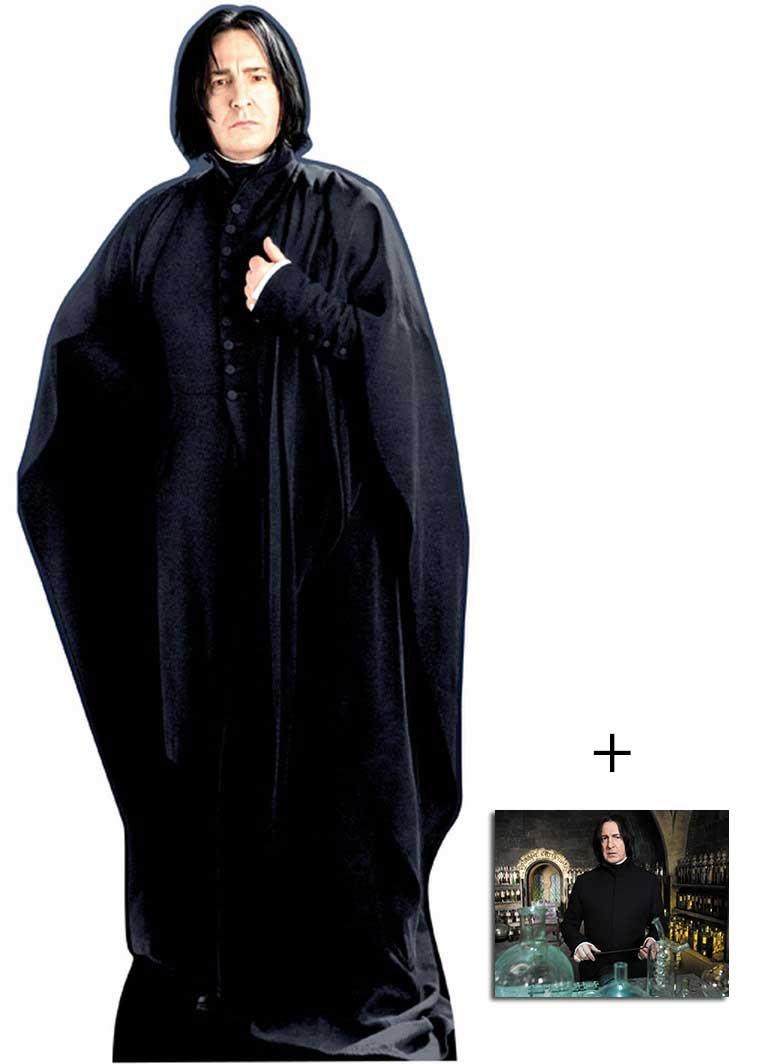 Professor Severus Snape de Harry Potter Personnage Découpé Dans Du Carton / Silhouette En Carton: Grandeur Nature / Standee / Stand-Up Alan Rickman - Avec Star Photo (Dimensions 25x20 Cm) BundleZ-4-FanZ Fan Packs