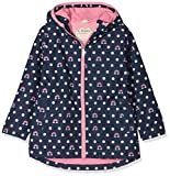 Hatley Girl's Microfiber Rain Jackets, Blue (Dots and Rainbows), 4 Years