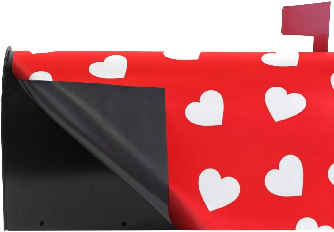 ALAZA Valentines Day Mailbox Covers Magnetic Valentines Day Mailbox Large Size Heart Seamless Pattern