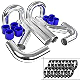 Spec-D Tuning IC-KIT-UNV25BL Intercooler Piping Kit (Blue-2.5 in)