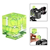 Crazefoto Hot Shoe Level Three Axis Hot Shoe Bubble Spirit Level for SLR/DSLR Camera with Standard Hot Shoe Mount for Canon Nikon Panasonic Fujifilm Olympus Pentax Sigma
