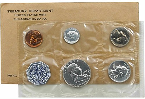 (1961 P US PROOF Set in original packaging from US mint Proof)