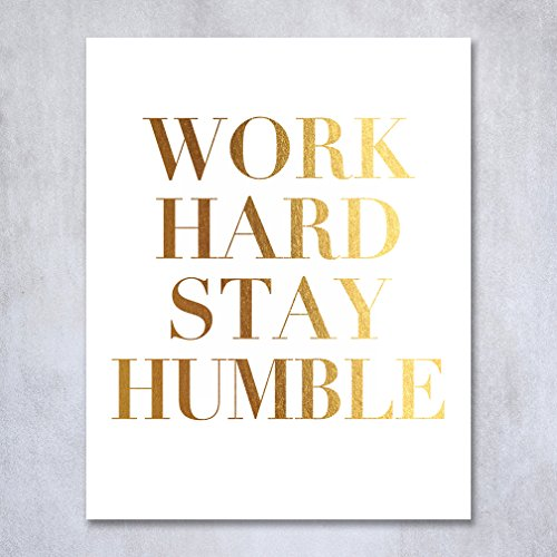 work-hard-stay-humble-gold-foil-decor-wall-art-print-office-inspirational-motivational-quote-metalli