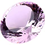 Pink Crystal Glass Diamond Shaped Decoration 80mm Jewel Paperweight,Gift Decoration Idea For Christmas, Thanksgiving