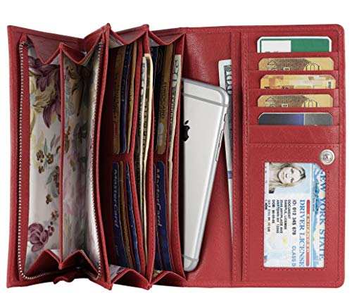 Mou Meraki Wallet Clutch Checkbook Women Shield
