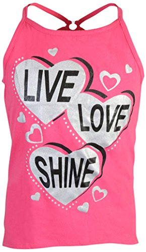 Real Love Girl's 4-Piece French Terry Short Sets, Live Love Shine, Size 5/6' by Real Love (Image #1)