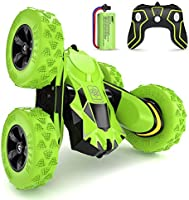 SGILE 4WD RC Stunt Car - 2.4Ghz 360° Flip Remote Control Truck Toy for 6-12 Years Old Kids
