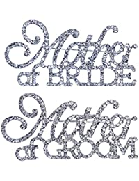 Mother of the Bride & Mother of the Groom Rhinestone Pin Set in Silver