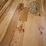 "Hickory Character (Natural) Prefinished Solid Wood Flooring 5"" x 3/4"" Samples at Discount Prices by Hurst Hardwoods"