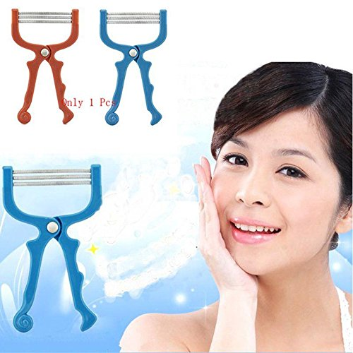 New Handheld Facial Hair Removal Threading Beauty Epilator Tool 1Pc Random Color