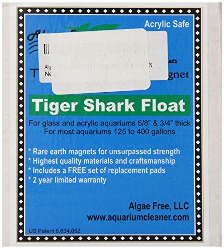 AlgaeFree Tigershark Plus Floating Aquarium Cleaner Magnet by Algae Free Llc