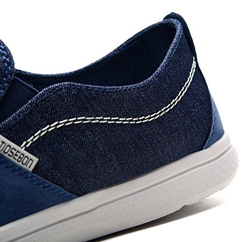 Tiosebon Canvas Schoenen Voor Heren Comfort Casual Instappers Loafers Wandelschoenen Sneakers Schoenen 8306 Marine