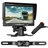 "Emmako Backup Camera and 7"" Monitor Kit For Car/RV/Pickup Truck/Trailer/Camper IP68 Waterproof Night Vision Rear/Side/Front View System Guide Lines On/Off Optional Reversing/Driving Use Review"