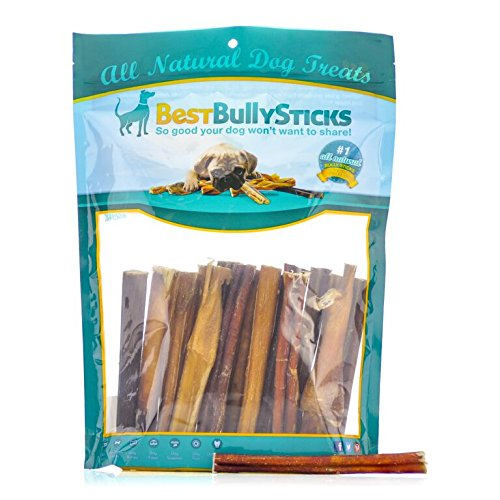 100 natural 6 inch standard bully sticks by best bully. Black Bedroom Furniture Sets. Home Design Ideas