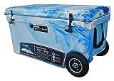 MILEE--Wheeled Cooler 70QT (Marine CAMO) Included Divider, Basket...