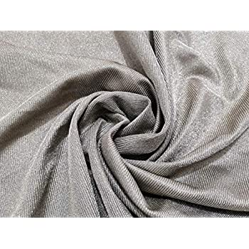 Image of Home and Kitchen 100% Silver Fiber Fabric Radiation EMF Protection Material Silver Conductive Fabric for Shielding Cage Sold by 80'x59' inch Soft and Washable