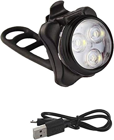 Bike Bicycle Cycling Head Front Rear Tail 3 LED light USB Rechargeable 4 Modes