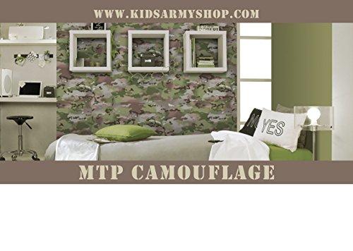 Kids Army Multi Terrain Camouflage Wallpaper 105m Roll Of Mtp Camo Wallpaper