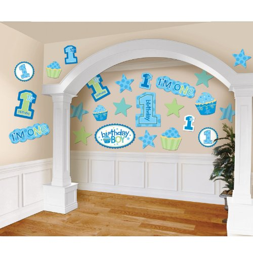 Amscan 1st Birthday Boy Mega Value Pack Cutouts