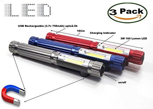 set-of-3-rechargeable-cob-led-pen-light-aluminum-body-pocket-work-light-3w-160lm-flashlight-w-magnet