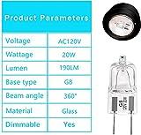 G8 Halogen Light Bulbs 20W 120V G8 Base 2Pin Xenon