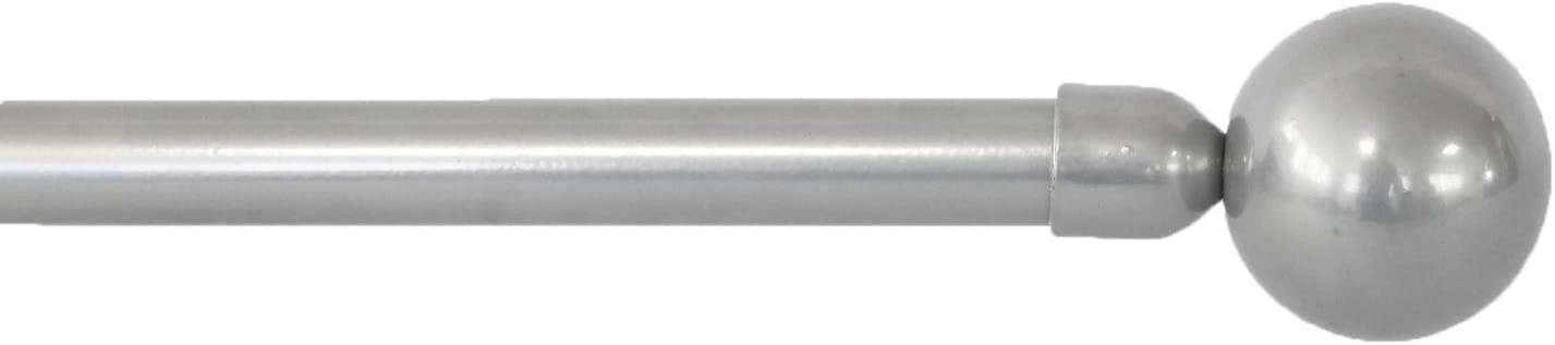 MERCURY TEXTIL Barra Sencilla Forja Universal Extensible,Barra de Cortinas Decorativa Extensible Blanco, 120-210cm