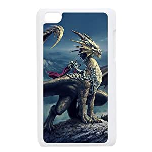 J-LV-F Phone Case Dragon,Customized Case For Ipod Touch 4