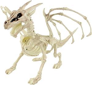 BESTOYARD Halloween Animal Skeleton Props Skeleton Dragon Halloween Decorations Creepy Decor Party Props