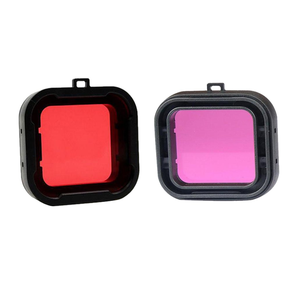 Jili Online 2Pieces Underwater HD Diving UV Filter Lens for GoPro Hero 3 4 Action Sports Camera