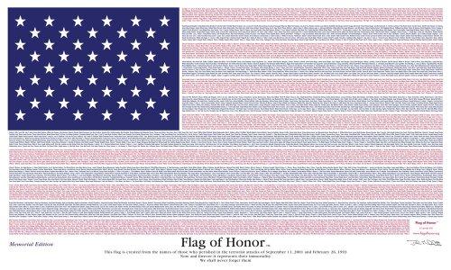 Annin Flagmakers 9-11 Flag of Honor 3' x 5' Nylon Flag