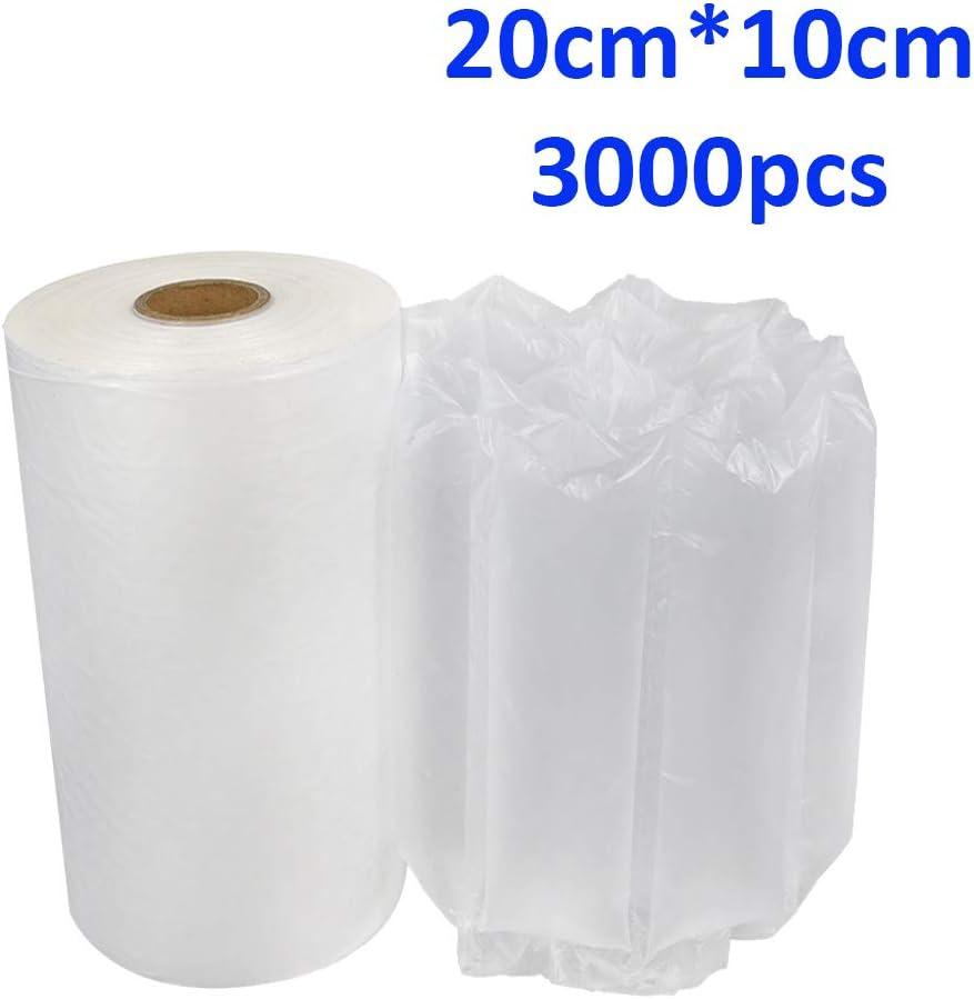 3000Pc Air Pillow Packaging Bag Roll Bubble Packaging Wrap Film Air Cushion Wrap