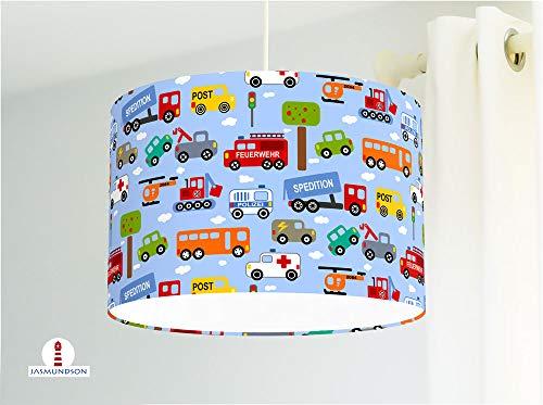 Lámpara de techo para la habitación de los niños con coches de ...