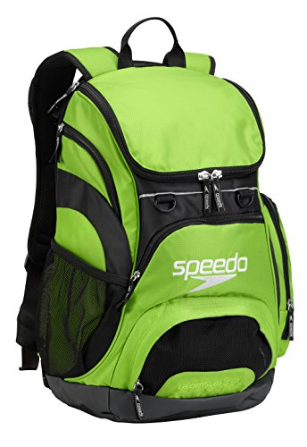 Speedo Large Teamster Backpack, Jasmine Green/Black, 35-Liter