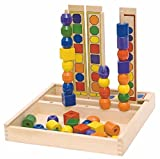 Woodyland 23 x 23 x 23 cm Didactic Toys Logic Bead Sequencing Set (55-Piece)