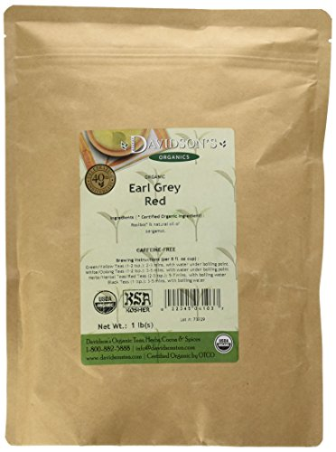 Davidson's Tea Bulk, Earl Grey Red, 16-Ounce - Red Grey