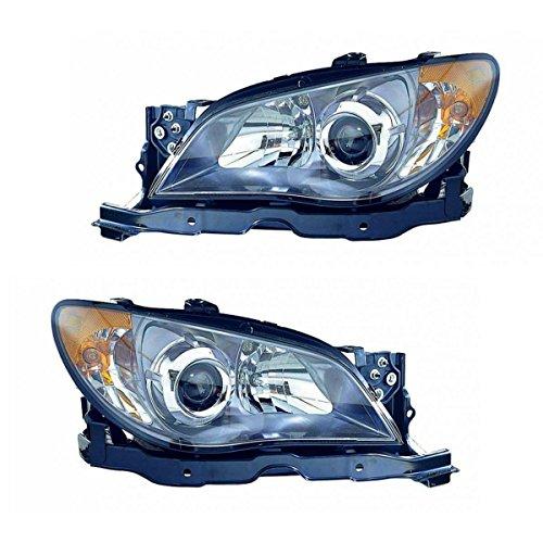 Headlight Head Lamp Light Left & Right Pair Set of 2 for 06 Subaru Impreza