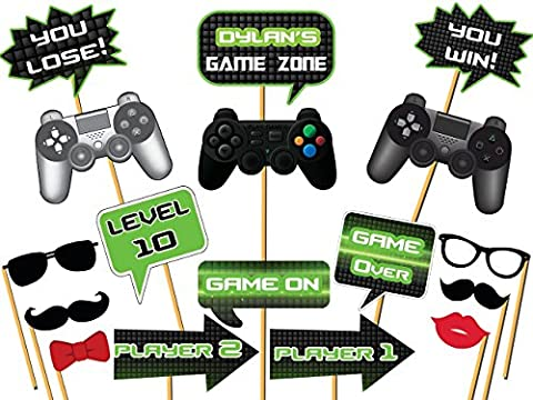 Custom Video Game Photo booth props - Size 36x24, Personalized Game Controller Props, video gaming party, video game props, Gaming Zone, Party Decorations, Handmade DIY Party Supply Photo Booth (Music Videos For Party)