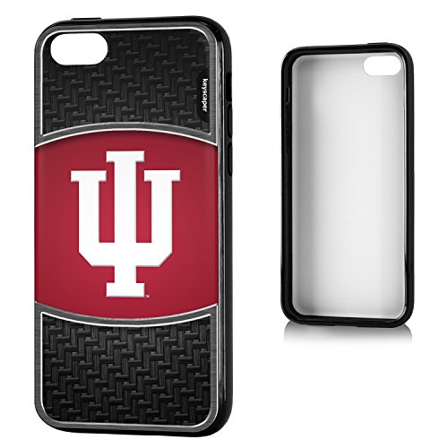 Indiana Hoosiers iPhone 5C Bumper Case officially licensed by Indiana University for the Apple iPhone 5C by keyscaper® Flexible Full Coverage Low Profile (Low Profile Iphone 5c Case compare prices)