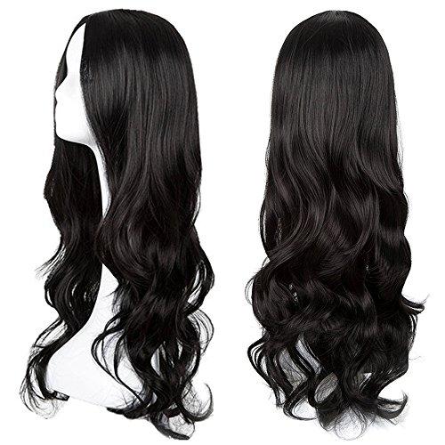 Women's Halloween Wigs Cosplay Long Black Wig (Curly) -