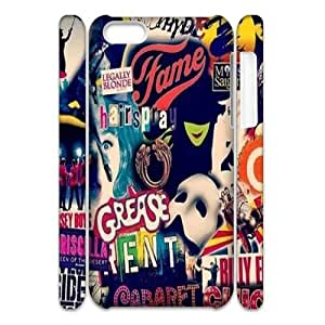 T-TGL(RQ) Iphone 5C 3D Cell Phone Case Wicked Musical with Hard Shell Protection