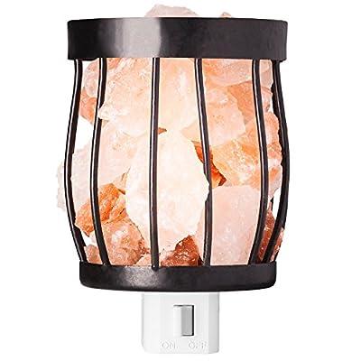 mockins Natural Himalayan Salt Night Light Basket Style #2 - Holiday Gift