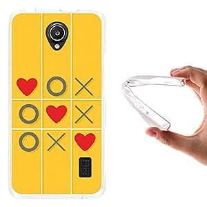 WoowCase - Funda Gel Flexible { Huawei Ascend Y635 } Juego de Amor con Corazones Carcasa Case Silicona TPU Suave