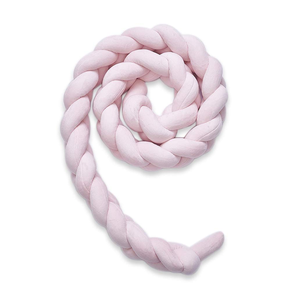 iBaste_S Knot Ball Pillow, Infant Soft Plush Pad Braided Crib Bumper Knot Pillow Cushion Cradle Decor DIY Hand-made Twist Bed Pillow Knot Ball for Baby Girl Boy