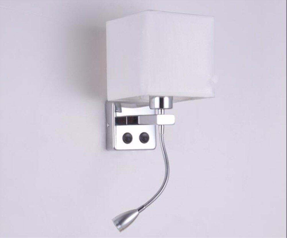 Yjnb breve moderno posto letto appliques lampade da parete con luce