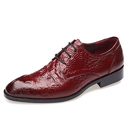 Sommer Männer Business Casual Tipps Kleid Lederschuhe Britischen Formalen Schnürschuhe Schuhe Red