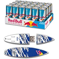 Red Bull 24pack 8.4oz Sugarfree Energy Drink & 8GB Blue Camo USB SurfDrive