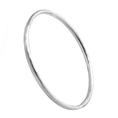674207ee4 Silver Beaten Secret Message Bangle | Hersey & Son Silversmiths:  Amazon.co.uk: Jewellery
