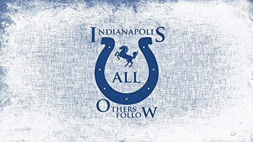 Indianapolis Colts Horseshoe Logo NFL All Others Follow Edible Cake Topper Image ABPID07405 - 1/4 sheet
